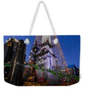 Indiana - Soldiers And Sailers Monument With Lights Weekender Tote Bag