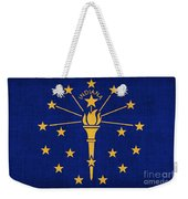 Indiana State Flag Weekender Tote Bag by Pixel Chimp