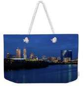 Indianapolis State Capitol And Skyline Weekender Tote Bag