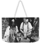 Indians Using Mortar And Pestle Weekender Tote Bag