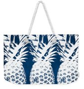 Indigo And White Pineapples Weekender Tote Bag