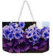 Indigo Flowers Weekender Tote Bag
