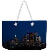 Indigo Sky And Toronto Skyline Weekender Tote Bag