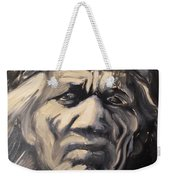 Indio Indian Black And White Oil Painting Weekender Tote Bag