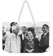 Indira Gandhi At Jfk Airport Weekender Tote Bag