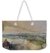 Industrial Landscape In The Blanzy Coal Field Weekender Tote Bag by Ignace Francois Bonhomme