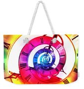 Infinite Time Rainbow 3 Weekender Tote Bag