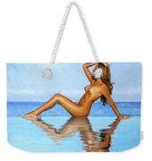 Infinity Pool Nude Weekender Tote Bag