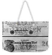 Inflated German Mark Bills Weekender Tote Bag