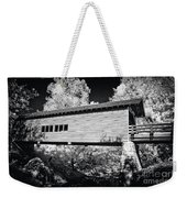 Infrared Covered Bridge Weekender Tote Bag