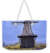 Infrared Photo Of The Dezwaan Dutch Windmill On Windmill Island In Holland Michigan Weekender Tote Bag