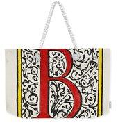 Initial 'b', C1600 Weekender Tote Bag