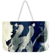 Inked Painted And Torn Weekender Tote Bag by Carol Leigh