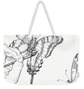 Inked Swallowtail Weekender Tote Bag