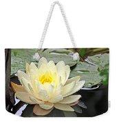 Inner Glow - White Water Lily Weekender Tote Bag