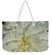 Innocent White Dahlia  Weekender Tote Bag