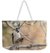Inquisitive Woodpecker Weekender Tote Bag