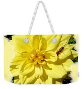 Insect On A Dahlia Weekender Tote Bag