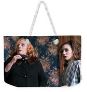 Inside A House, Two Women Stand Looking Weekender Tote Bag