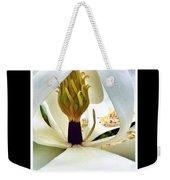 Inside Magnolia Weekender Tote Bag