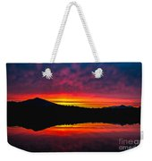 Inside Passage Sunrise Weekender Tote Bag