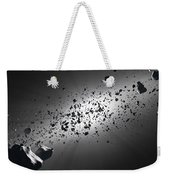 Inside The Asteroid Belt Against The Sun Weekender Tote Bag