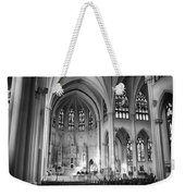 Inside The Cathedral Basilica Of The Immaculate Conception 1 Bw Weekender Tote Bag