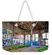 Inside The Old Train Roundhouse At Bayshore Near San Francisco And The Cow Palace II Weekender Tote Bag