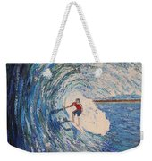 Inside The Tube Surfing Weekender Tote Bag