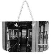 Inside Trolley 28 Black And White Weekender Tote Bag