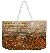 Inspiration - Apiary - Bee's - Sweet Success - Ben Franklin Weekender Tote Bag by Mike Savad
