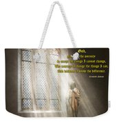 Inspirational - Heavenly Father - Senrenity Prayer  Weekender Tote Bag