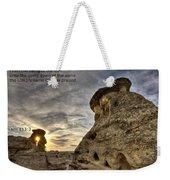 Inspirational Hoodoo Badlands Alberta Canada Weekender Tote Bag