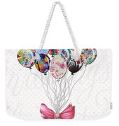 Inspirational Uplifting Floral Balloon Art A Bouquet Of Balloons Just For You By Megan Duncanson Weekender Tote Bag