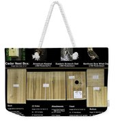 Instructions Cedar Nest Box For Kestrel And Owl Weekender Tote Bag
