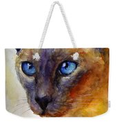 Intense Siamese Cat Painting Print 2 Weekender Tote Bag by Svetlana Novikova