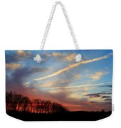 Interesting Sunset Weekender Tote Bag