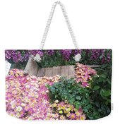 Interior Decorations Butterfly Gardens Vegas Golden Yellow Purple Flowers Weekender Tote Bag