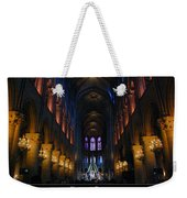 Interior Of Notre Dame De Paris Weekender Tote Bag