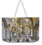 Interior Of San Marco Basilica, Looking Weekender Tote Bag by Italian School