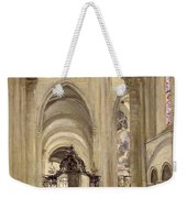 Interior Of The Cathedral Of St. Etienne, Sens Weekender Tote Bag