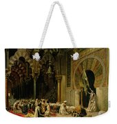 Interior Of The Mosque At Cordoba Weekender Tote Bag by Edwin Lord Weeks