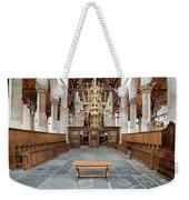Interior Of The Oude Kerk In Amsterdam Weekender Tote Bag