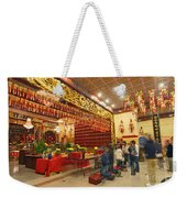 Interior Of Thien Hau Temple A Taoist Temple In Chinatown Of Los Angeles Weekender Tote Bag