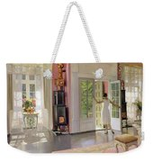 Interior Oil On Canvas Weekender Tote Bag