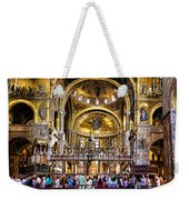 Interior St Marks Basilica Venice Weekender Tote Bag