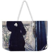 Interior Woman At The Window Weekender Tote Bag by Gustave Caillebotte