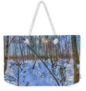 Intersecting Snow Streams Weekender Tote Bag