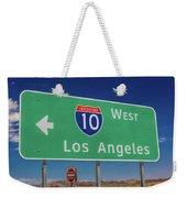 Interstate 10 Highway Signs Weekender Tote Bag