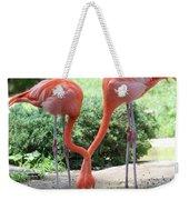 Intertwined Flamingoes Weekender Tote Bag